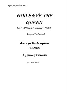 God Save the Queen: For saxophone quartet by folklore