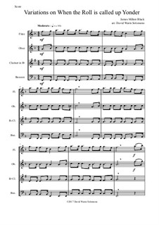When the Roll is Called: Variations, for wind quartet by James Milton Black
