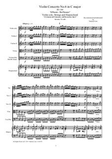 Violin Concerto No.6 in C Major 'Il piacere', RV 180: Full score, parts by Antonio Vivaldi