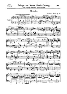 Melody for Piano, Op.113: Melody for Piano by Nicolai von Wilm