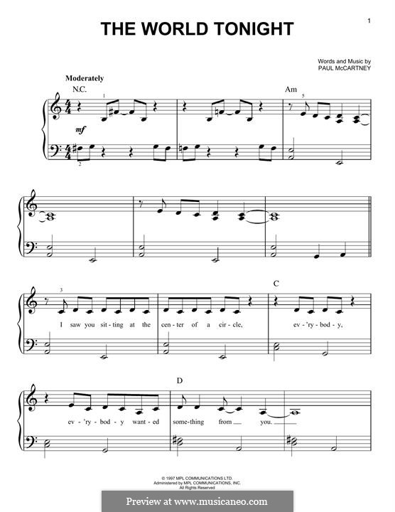 The World Tonight: For piano by Paul McCartney