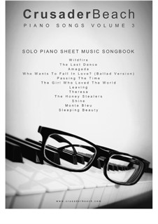 Piano Songs Volume 3 - CrusaderBeach - Songbook: Complete set by Adrian Webster