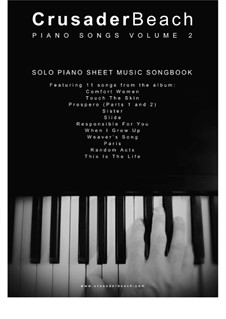 Piano Songs Volume 2 - CrusaderBeach - Songbook: Complete set by Adrian Webster