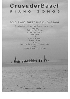 Piano Songs - CrusaderBeach - Songbook: Complete set by Adrian Webster