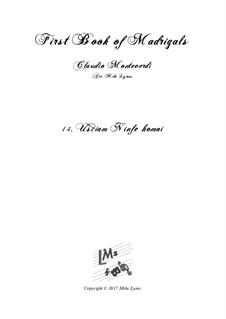 Book 1 (a cinque voci), SV 23–39: No.14 Usciam ninfe homai. Arrangement for quintet instruments by Claudio Monteverdi