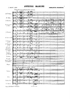 Joyeuse Marche: Full score by Emmanuel Chabrier