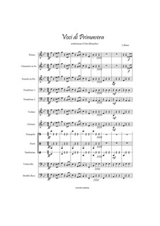 Voices of Spring, Op.410: For large ensemble by Johann Strauss (Sohn)