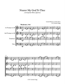 Nearer, My God, To Thee: For brass quartet by Lowell Mason