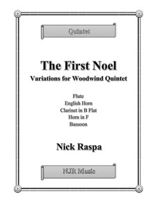 The First Noel. Variations: For woodwind quintet – score and parts by folklore
