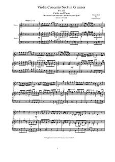 Violin Concerto No.8 in G Minor, RV 332: Version for violin and piano by Antonio Vivaldi