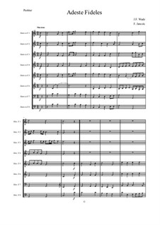 O Come All Ye Faithful: For 8 Horns – score by John Francis Wade