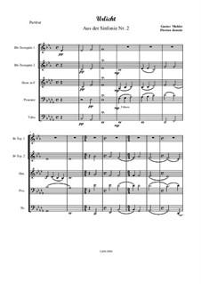 Symphony No.2 in C Minor 'Resurrection': Urlicht, für Brass Quintett – Partitur by Gustav Mahler
