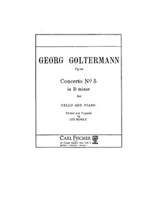 Cello Concerto No.5 in D Minor, Op.76: Version for cello and piano by Georg Goltermann