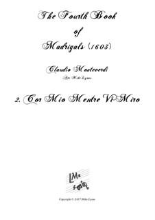 Book 4 (a cinque voci), SV 75–93: No.02 Cor mio mentre vi miro. Arrangement for quintet instruments by Claudio Monteverdi