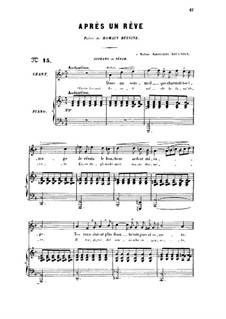 Three Songs, Op.7: No.1 Après un rêve for voice and piano by Gabriel Fauré