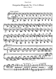No.15 in A Minor, S.244: For piano by Franz Liszt