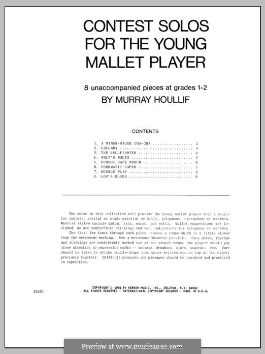 Contest Solos: For the Young Mallet Player by Murray Houllif