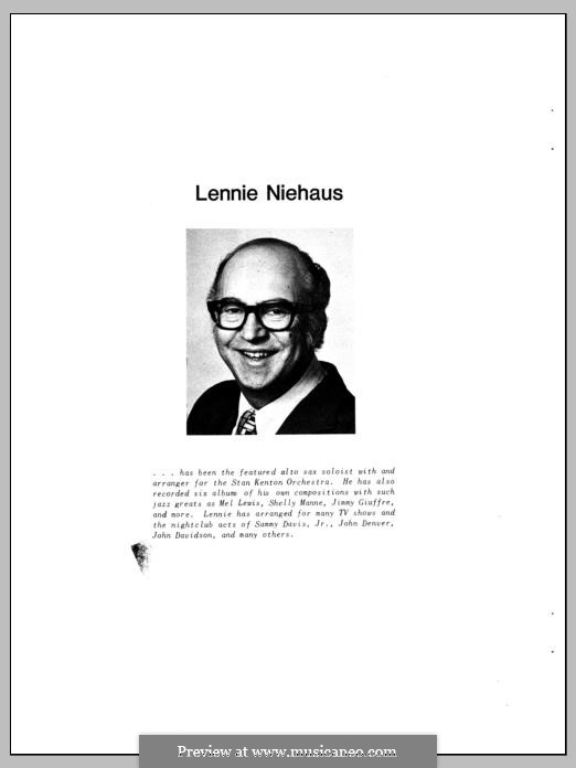 10 Jazz Inventions: For any instruments by Lennie Niehaus