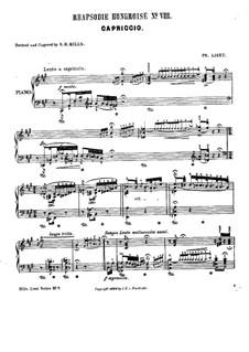 No.8 in F Sharp Minor, S.244: For piano by Franz Liszt