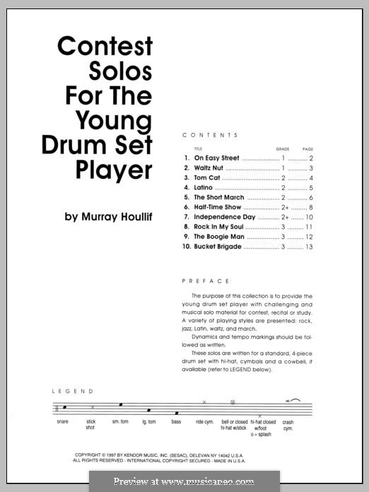 Contest Solos: For the Young Drum Set Player by Murray Houllif
