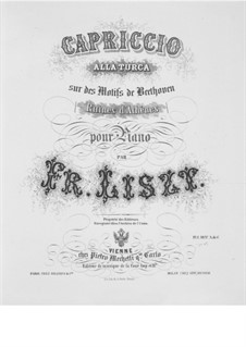 Transcription on Theme from 'The Ruins of Athens' by Beethoven, S.388: Transcription on Theme from 'The Ruins of Athens' by Beethoven by Franz Liszt
