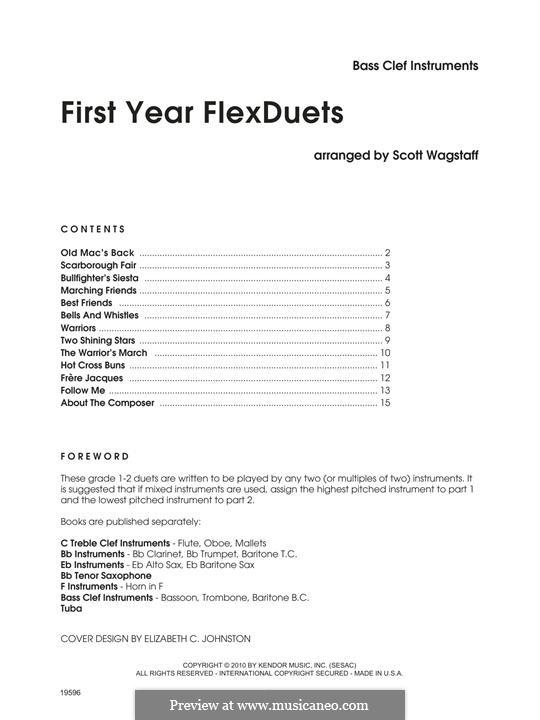 First Year FlexDuets: Bass clef instruments by Scott Wagstaff