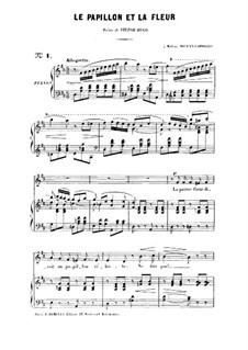 Two Songs, Op.1: No.1 Le papillon et la fleur (The Butterfly and the Flower), for high voice by Gabriel Fauré