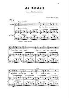 Two Songs, Op.2: No.2 Les matelots (The Sailors), for high voice by Gabriel Fauré