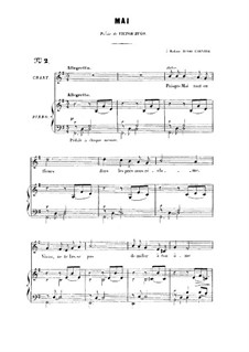 Two Songs, Op.1: No.2 Mai, for high voice by Gabriel Fauré