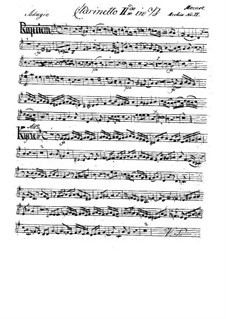 Complete Movements: Clarinet II part by Wolfgang Amadeus Mozart