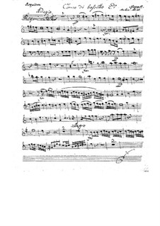 Complete Movements: Basset horn II part by Wolfgang Amadeus Mozart