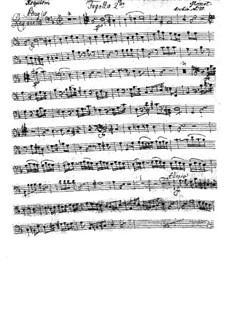 Complete Movements: Bassoon II part by Wolfgang Amadeus Mozart