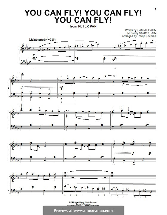 You Can Fly! You Can Fly! You Can Fly!: For piano by Sammy Fain