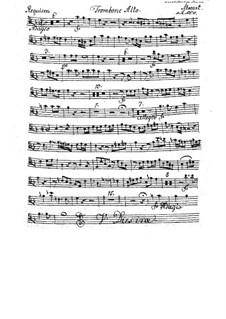 Complete Movements: Trombone alto part by Wolfgang Amadeus Mozart