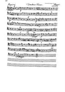Complete Movements: Trombone tenor part by Wolfgang Amadeus Mozart