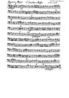 Complete Movements: Trombone basso part by Wolfgang Amadeus Mozart