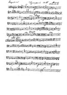 Complete Movements: Timpani part by Wolfgang Amadeus Mozart