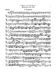 Complete Movements: Cello part by Wolfgang Amadeus Mozart