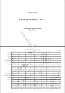 Canzon Septimi e Octavi Toni à 12: Canzon Septimi e Octavi Toni à 12 by Giovanni Gabrieli