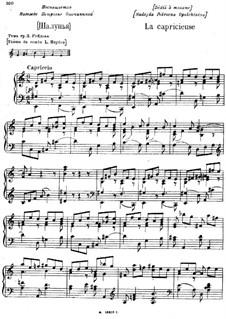 La Capricieuse (The Capricious One): La Capricieuse (The Capricious One) by Modest Mussorgsky