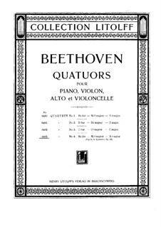 String Quartet No.4 in E Flat Major, Op.16b: Full score by Ludwig van Beethoven
