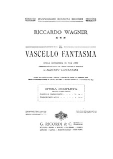Complete Opera: Piano-vocal score by Richard Wagner