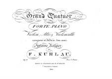 Quartet for Strings and Piano in A Major, Op.50: Quartet for Strings and Piano in A Major by Friedrich Kuhlau