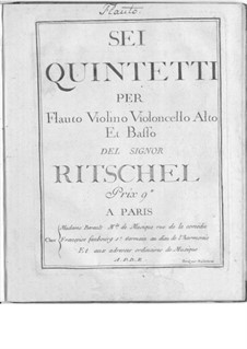 Six Quintets for Flute and Strings: Six Quintets for Flute and Strings by Georg Wenzel Ritschel