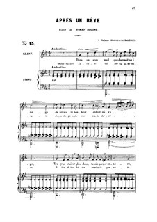 Three Songs, Op.7: No.1 Après une rêve, for medium voice by Gabriel Fauré