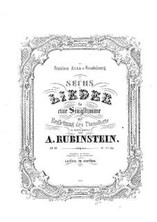 Six German Songs, Op.33: Six German Songs by Anton Rubinstein