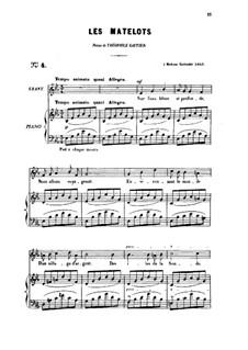 Two Songs, Op.2: No.2 Les matelots (The Sailors), for medium voice by Gabriel Fauré