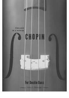 No.4 in E Minor: For double bass and piano by Frédéric Chopin