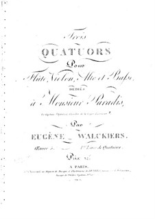 Three Quartets for Flute and Strings, Op.5: Three Quartets for Flute and Strings by Eugène Walckiers