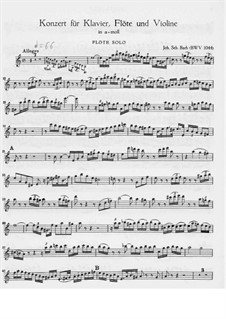 Triple Concerto for Flute, Violin and Harpsichord in A Minor, BWV 1044: Flute part by Johann Sebastian Bach